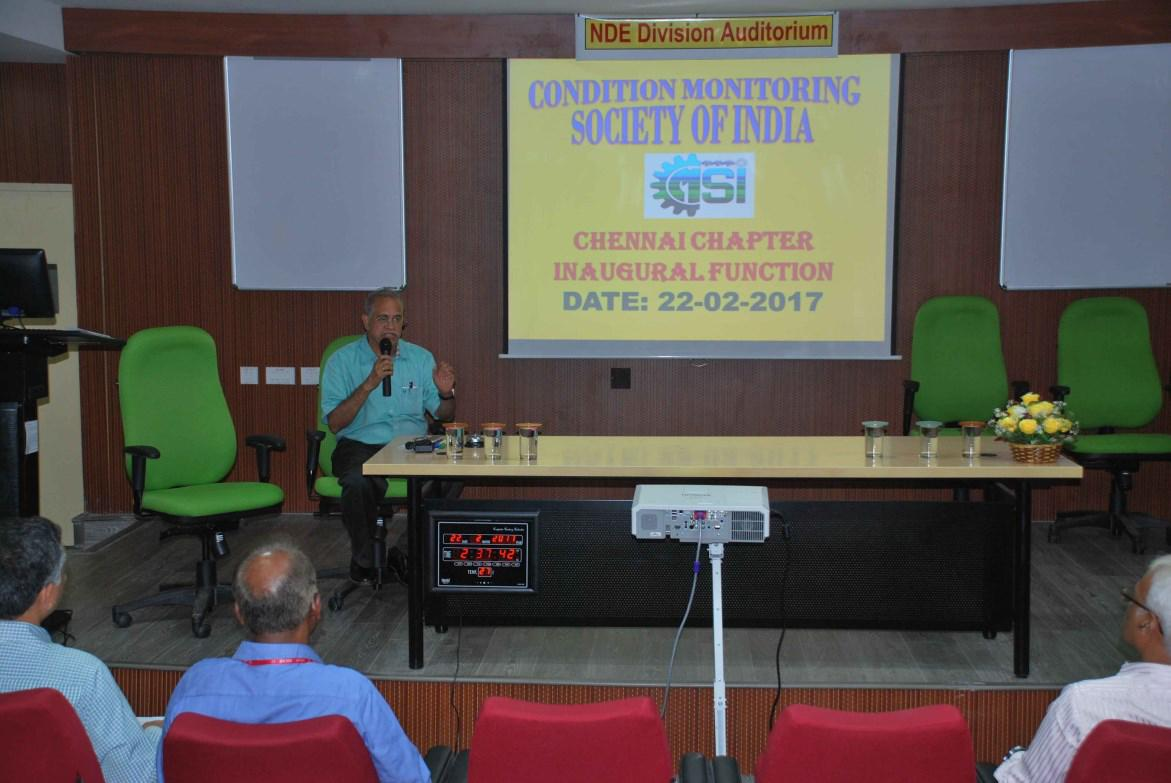Inauguration of CMSI Chennai Chapter by Dr. V. Bhujanga Rao, President, CMSI on February 22, 2017 in